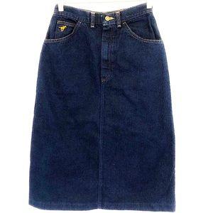 Wrangler Mid length Jean Skirt Vintage Size 6